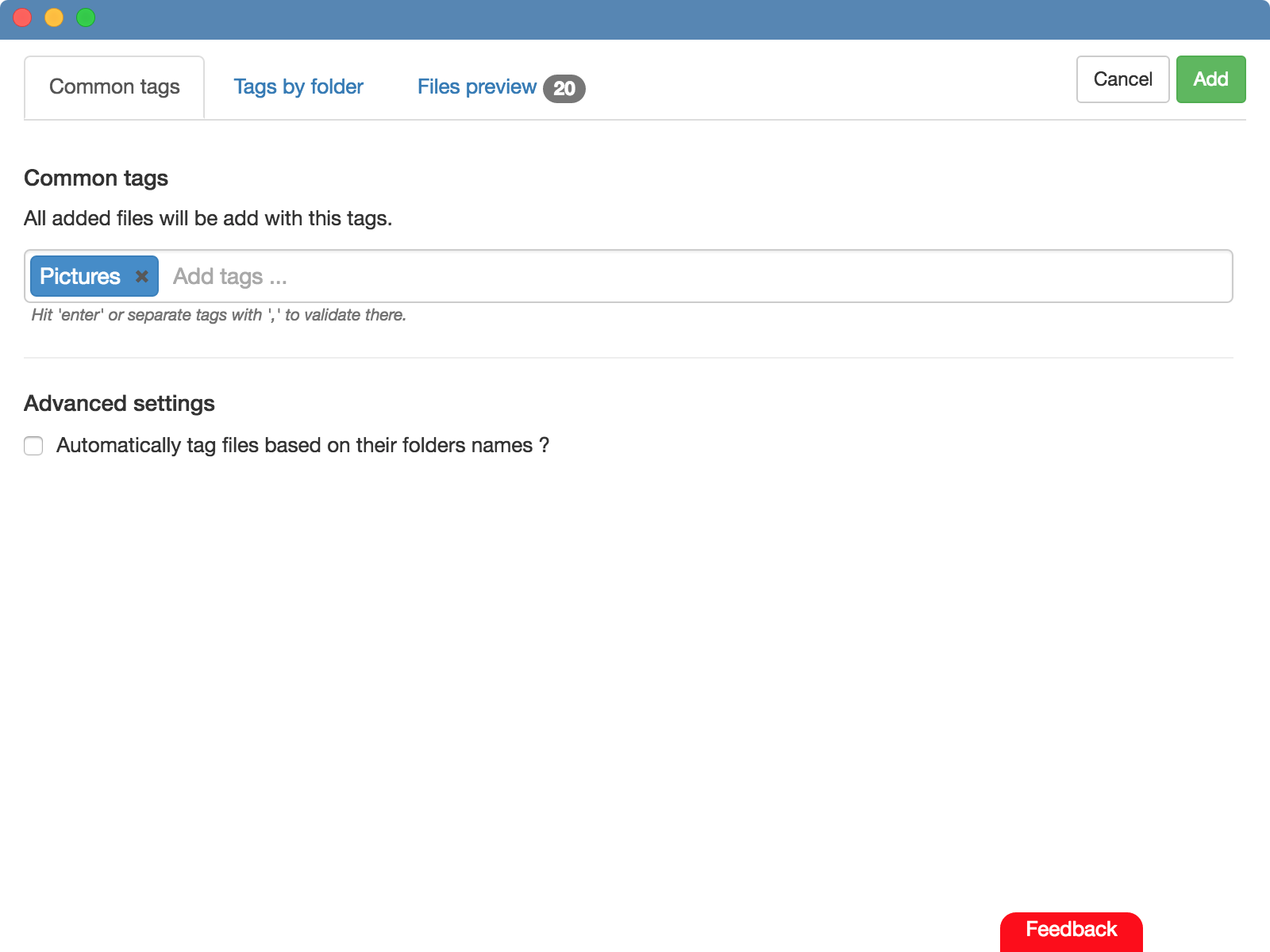 TagFlow - Manage your files with an intelligent tags system !